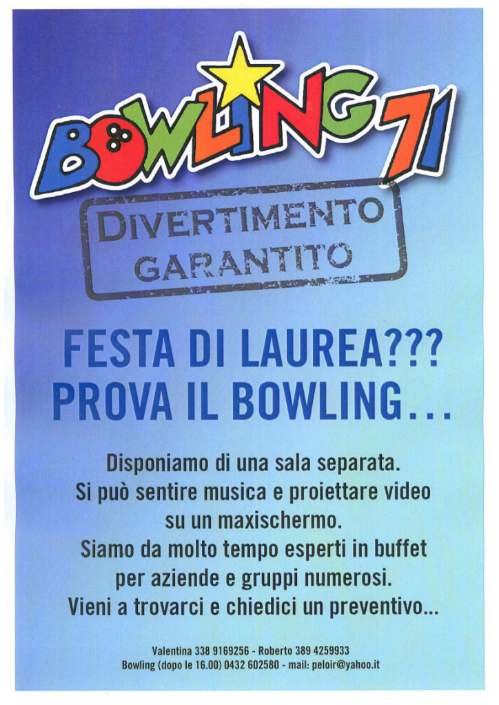Bowling - Festa di laurea