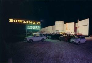 Panoramica del Bowling 71 negli anni '70